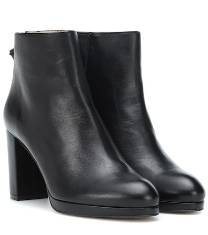 Martine leather ankle boots