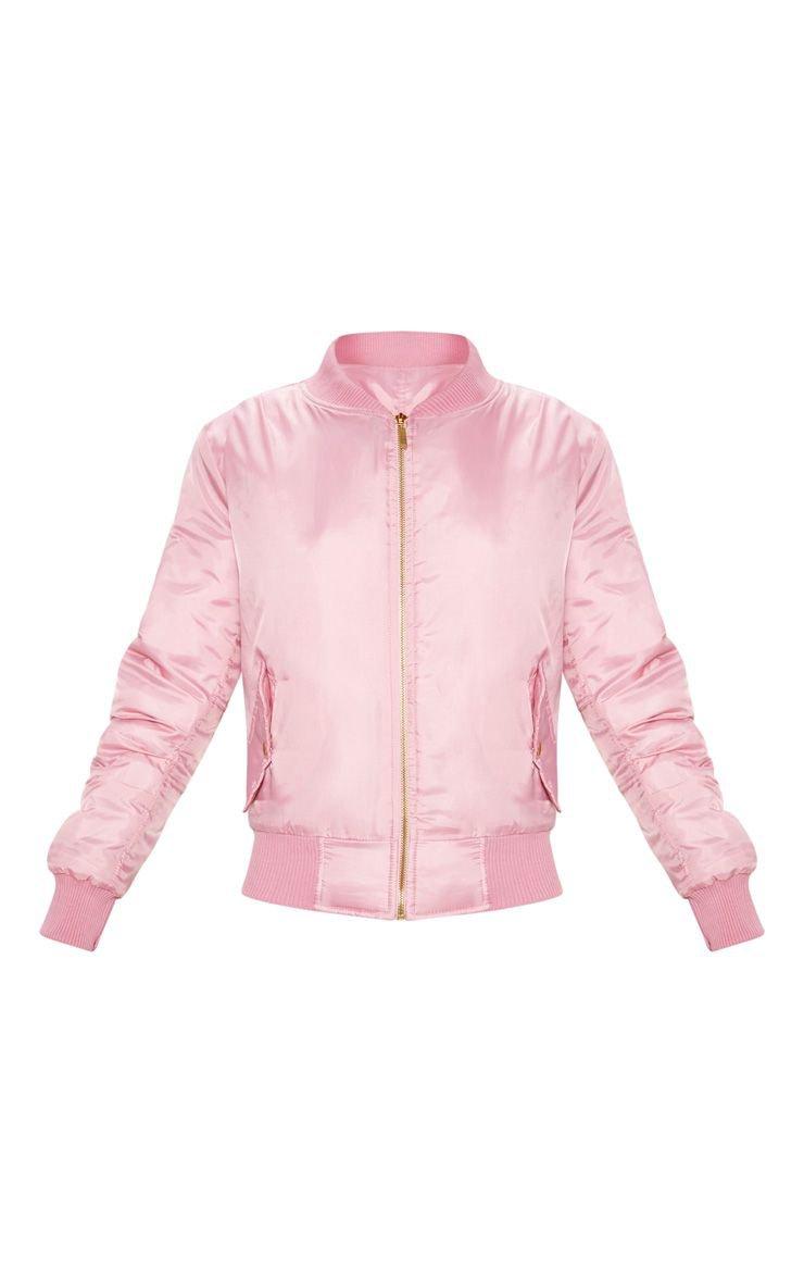 Pink Bomber Jacket | Coats & Jackets | PrettyLittleThing USA