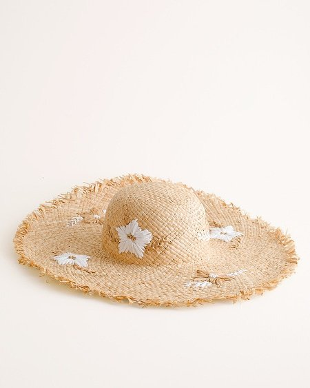 Patterned Straw Hat - Chico's