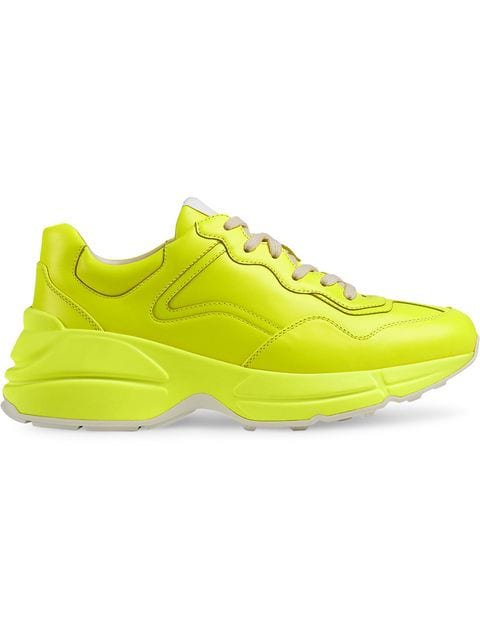Gucci Rhyton fluorescent leather sneaker