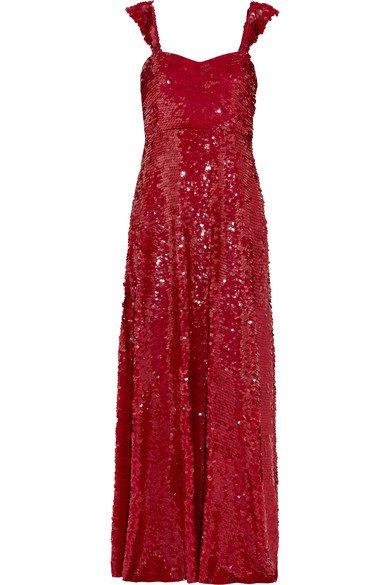 Valentino | Paillette-embellished silk-georgette gown | NET-A-PORTER.COM