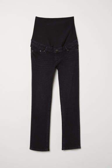 MAMA Slim Ankle Jeans - Black