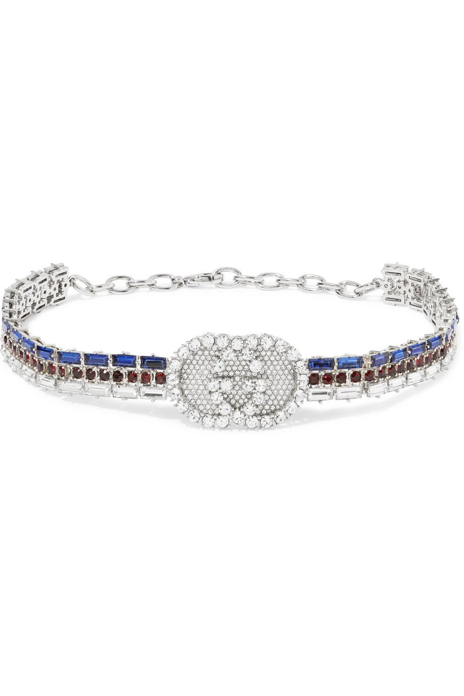 Gucci | Silver-plated crystal choker | NET-A-PORTER.COM