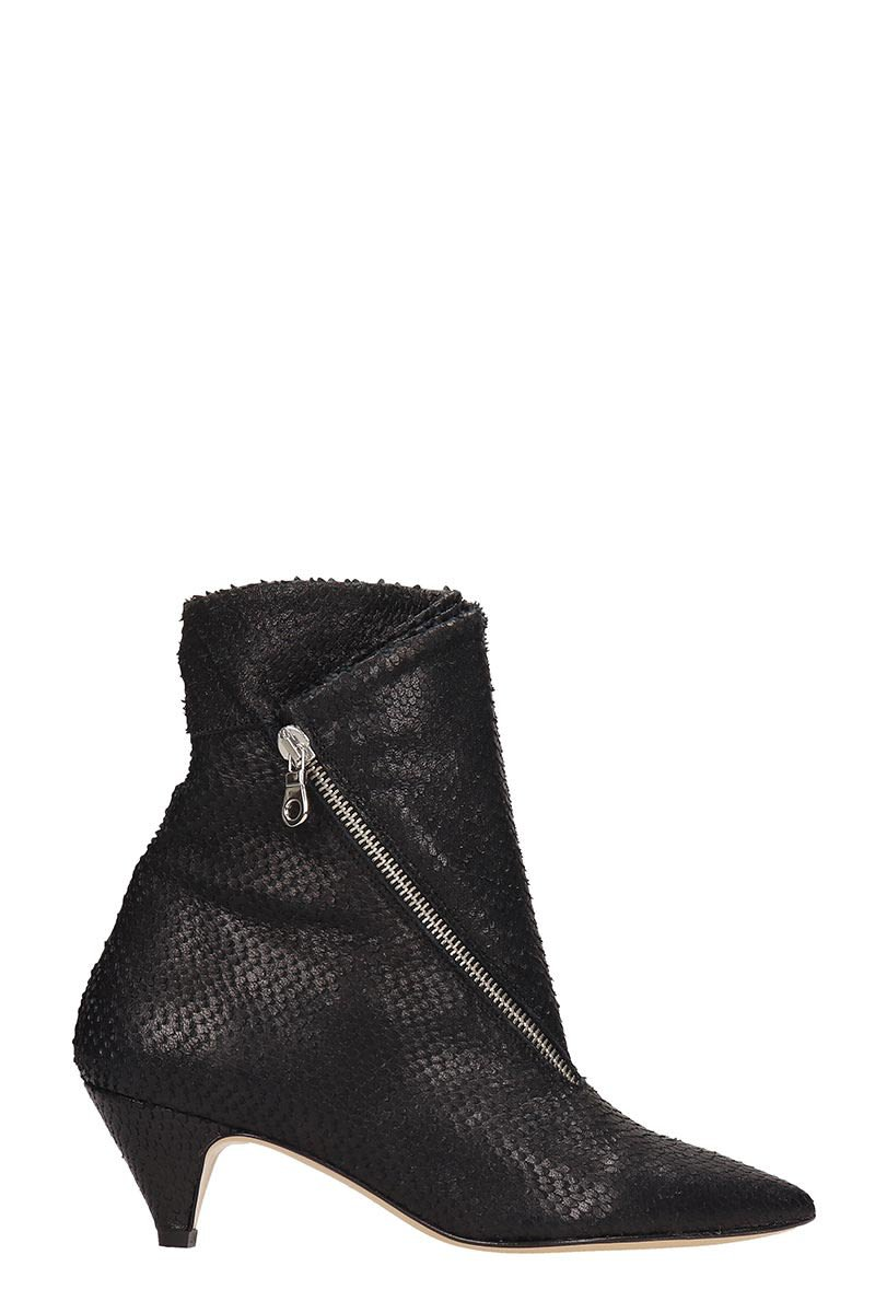 Alchimia Black Leather Ankle Boots