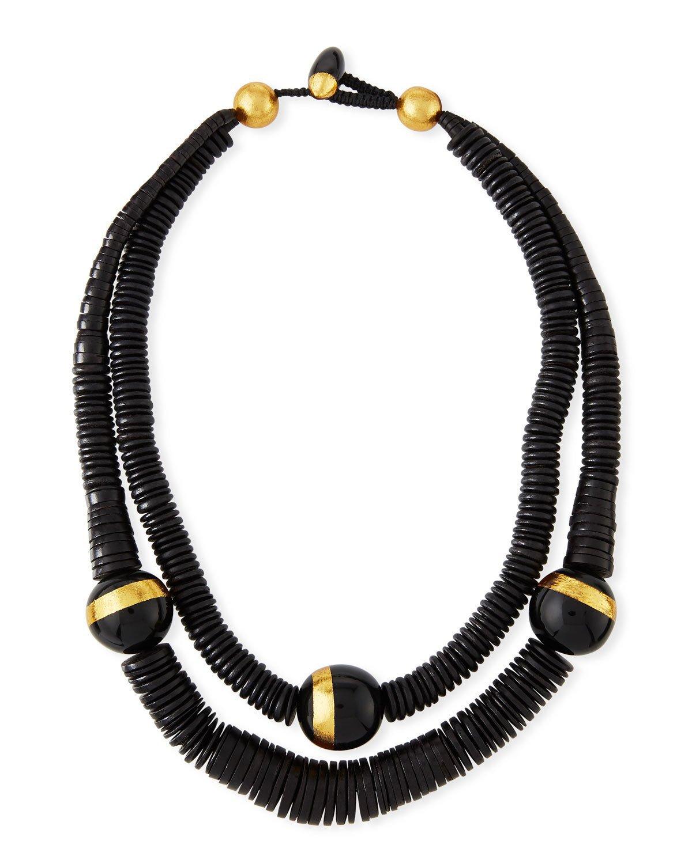 """Viktoria Hayman 26"""" Double-Strand Puka Shell Necklace"""