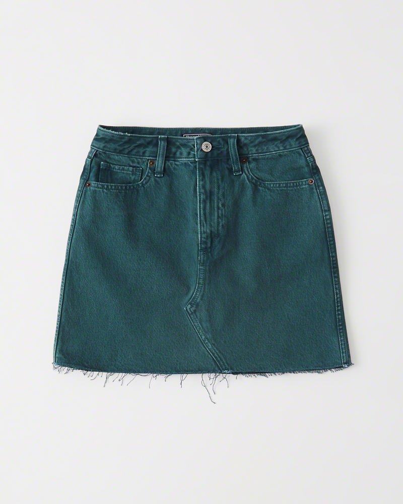 Womens Denim Mini Skirt   Womens Bottoms   Abercrombie.com