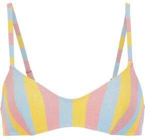 The Rachel Metallic Striped Bikini Top