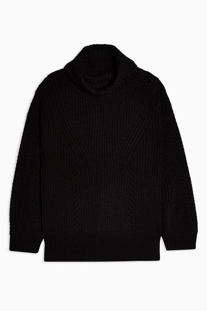 Knitted Roll Neck Jumper   Topshop