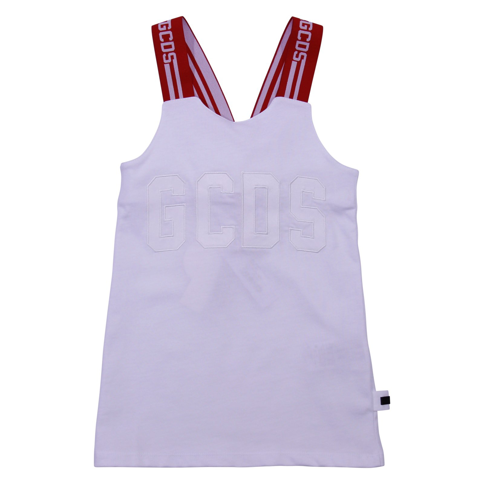 GCDS White Cotton Jersey Tank Top