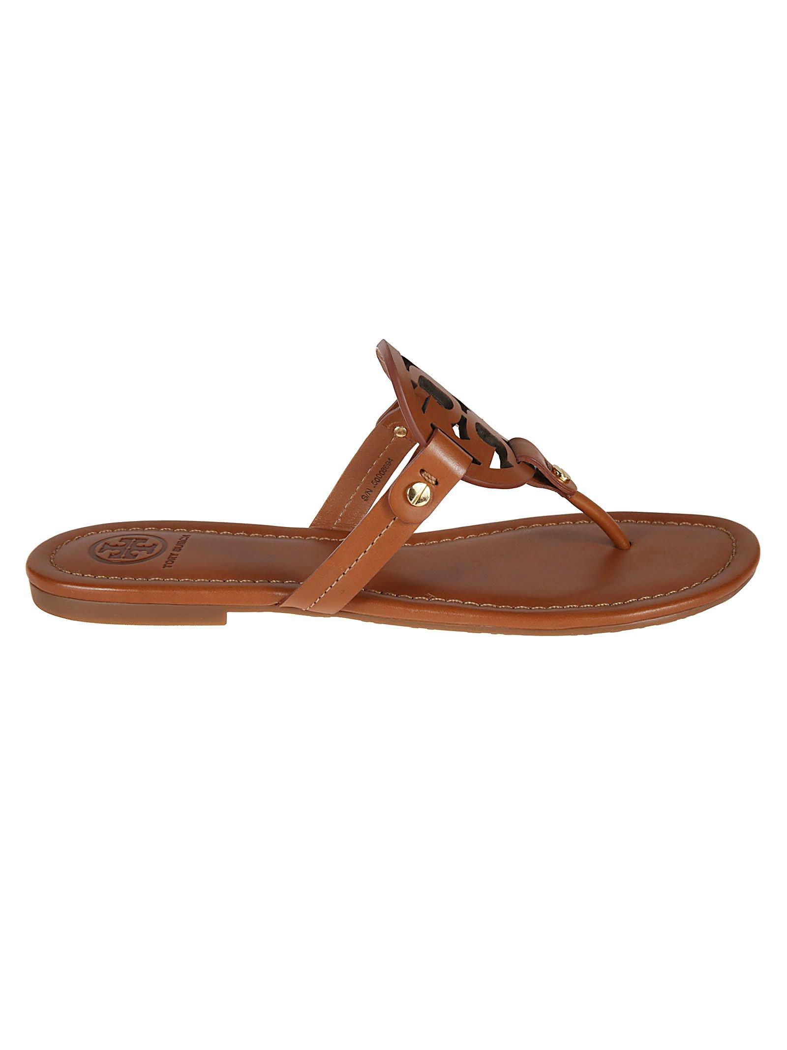 Tory Burch Miller Logo Detail Sandals