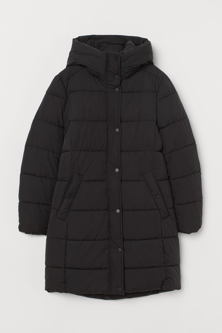 Padded Hooded Jacket - Black - Ladies | H&M US