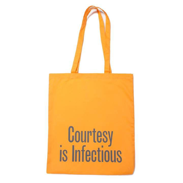 Plinth - Courtesy is Infectious Tote Bag
