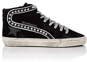 "Women's ""Slide"" Suede Sneakers - Black"