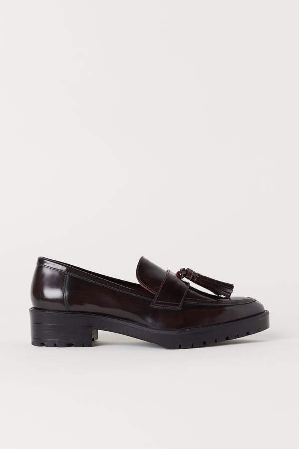 Leather Loafers - Red