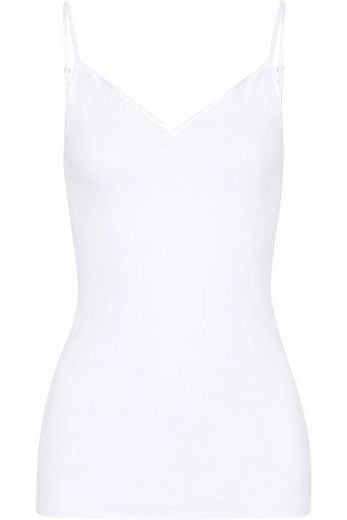 Hanro   Satin-trimmed mercerized cotton camisole   NET-A-PORTER.COM
