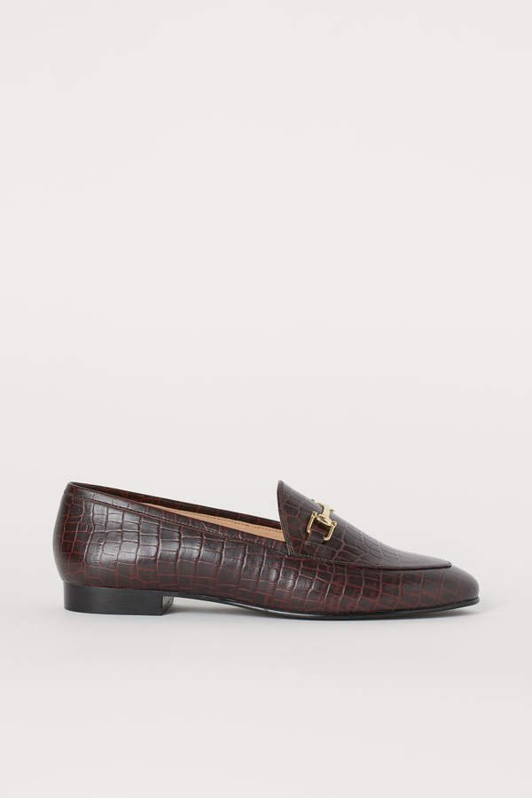 Leather Loafers - Beige