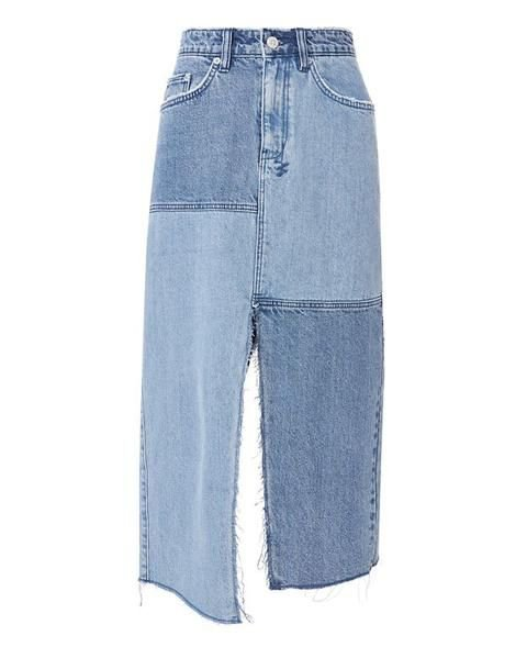 Ksubi Pip Patchwork Midi Skirt