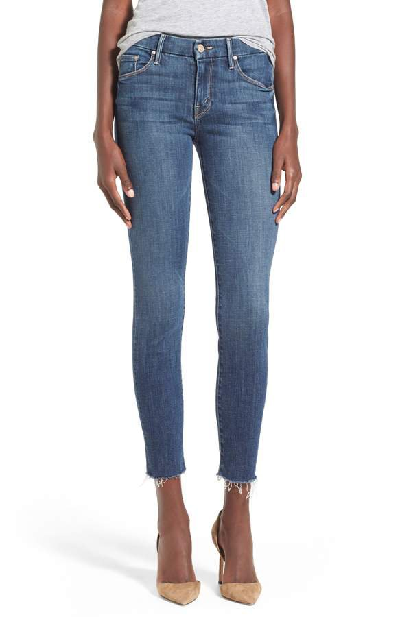 'The Looker' Frayed Ankle Jeans