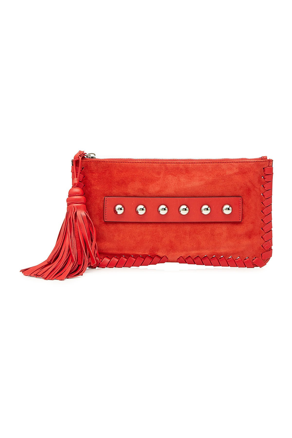 Embellished Suede Clutch Gr. One Size