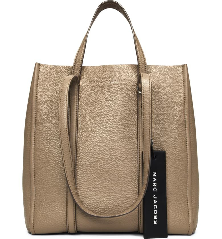 MARC JACOBS The Tag 27 Leather Tote Brown