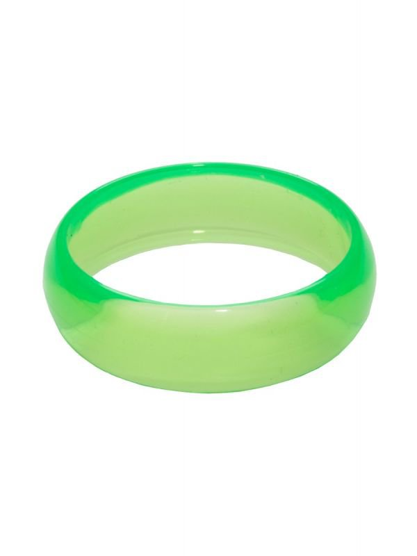 80s Bangle | 1980's Costume Bracelet | 1980's Neon Green Bangle