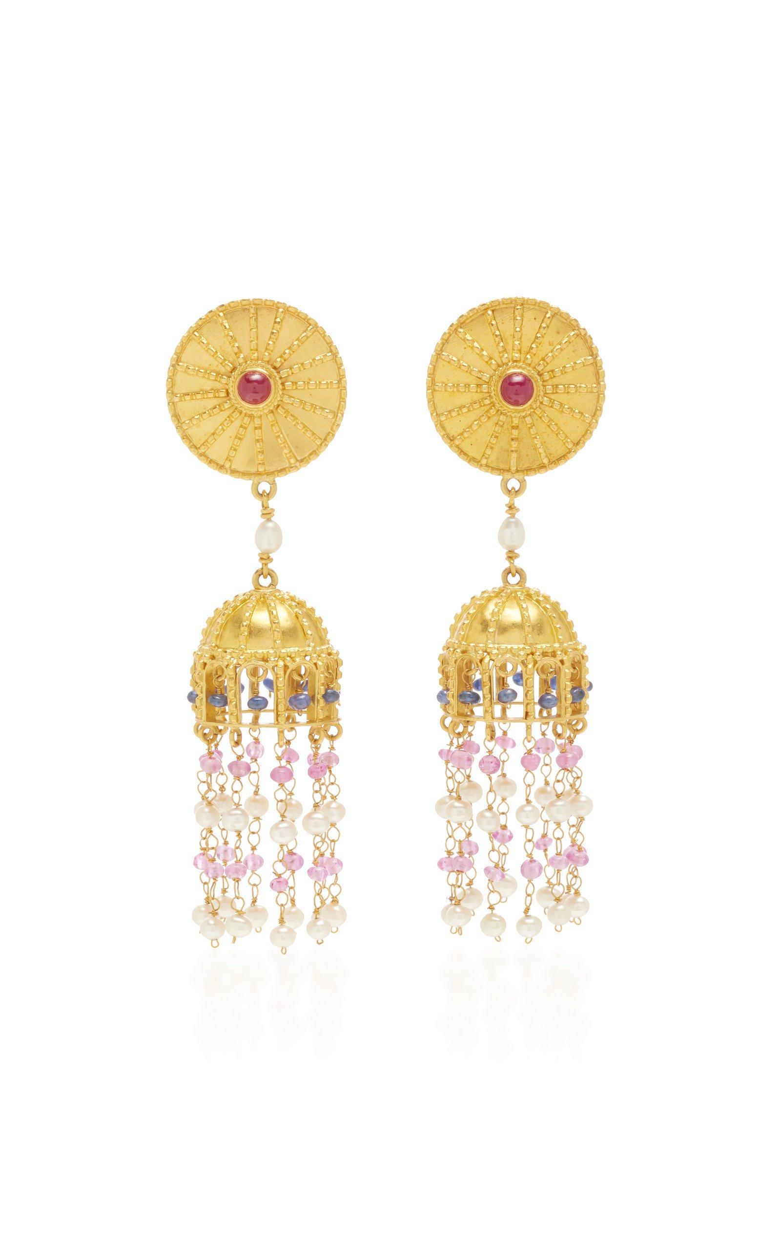 Ilias Lalaounis Multi- Stone Drop Earrings