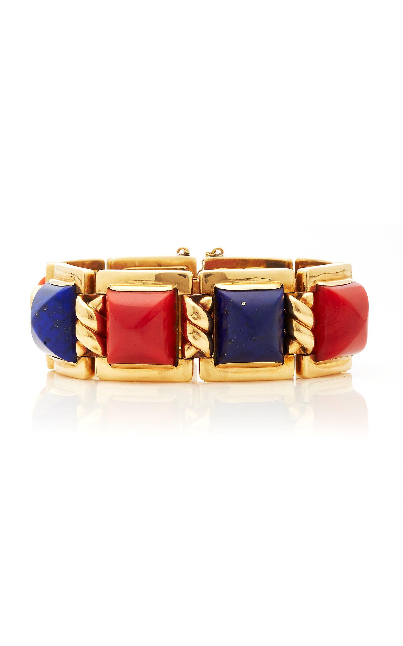 Eleuteri Vintage 14K Yellow Gold Multi-Stone Bracelet