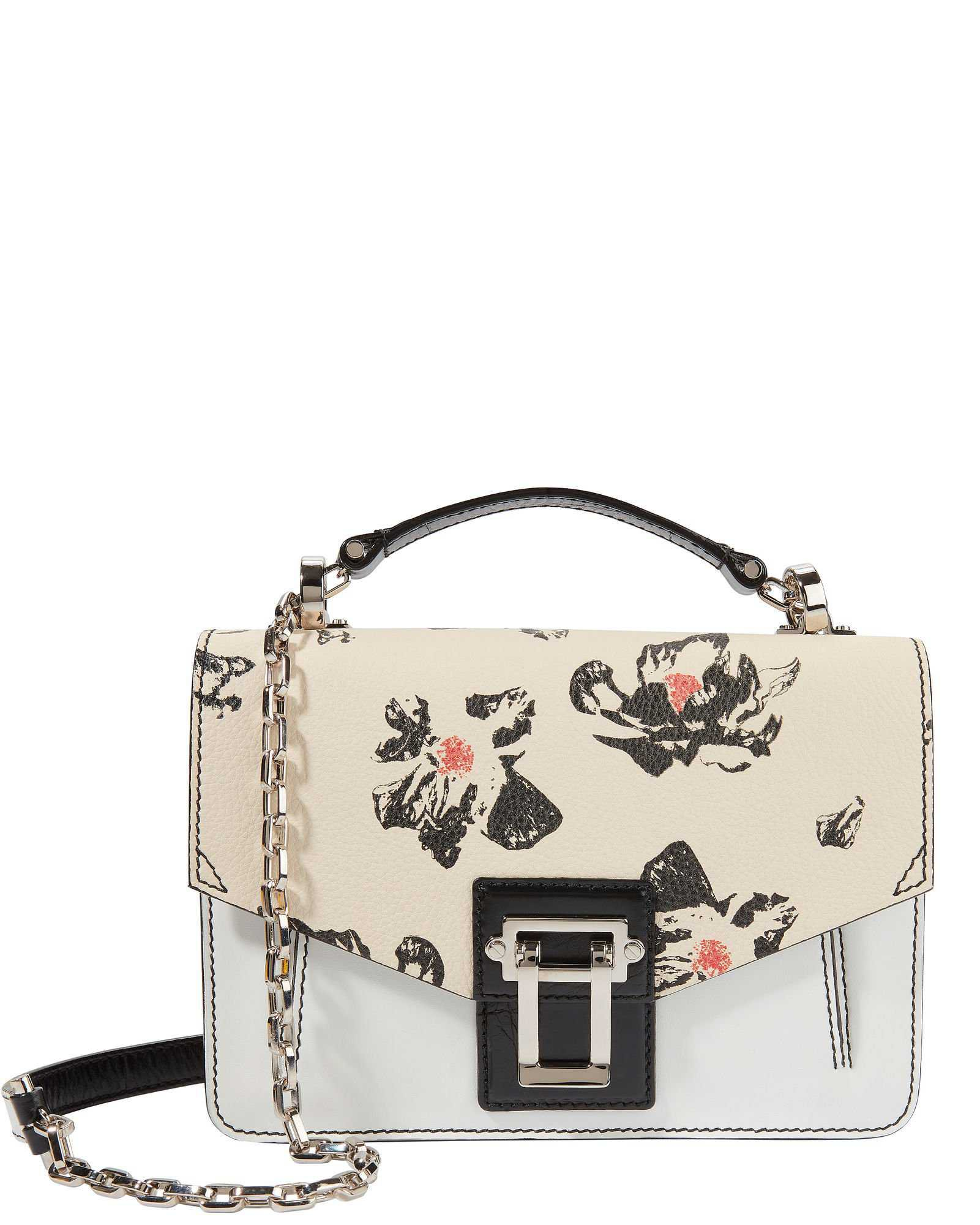 Hava Chain Floral Leather Small Shoulder Bag
