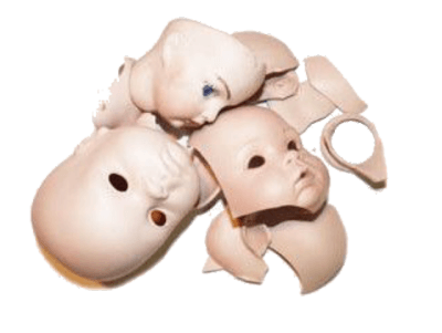 Vintage Doll faces png