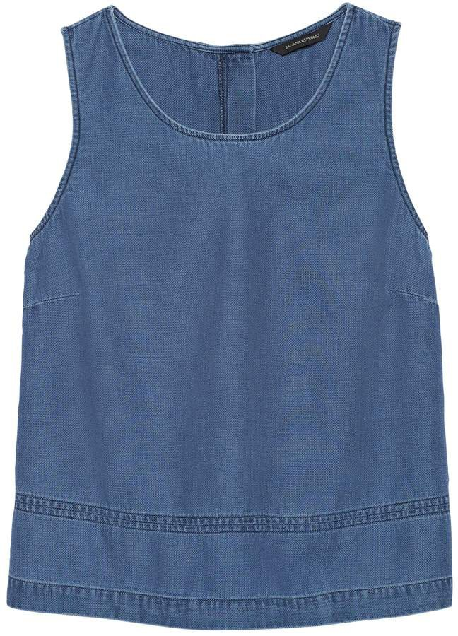 JAPAN EXCLUSIVE Chambray Button-Back Tank