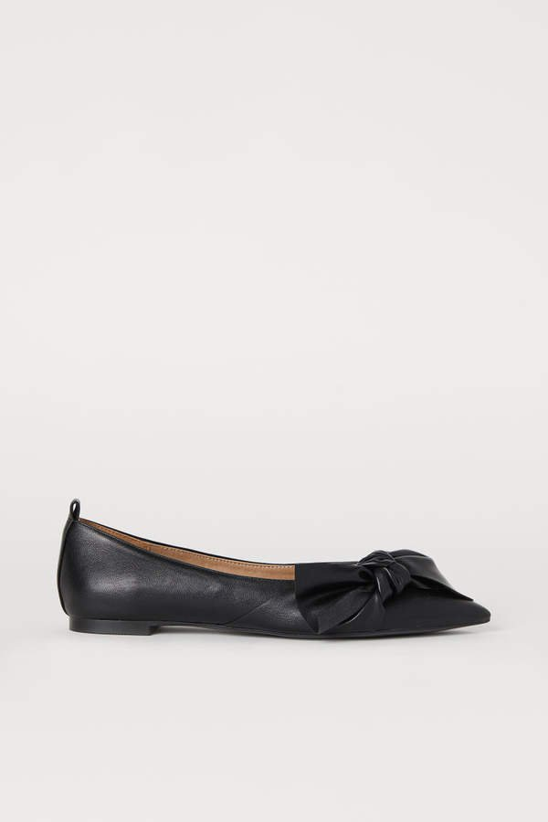 Flats with Bow - Black