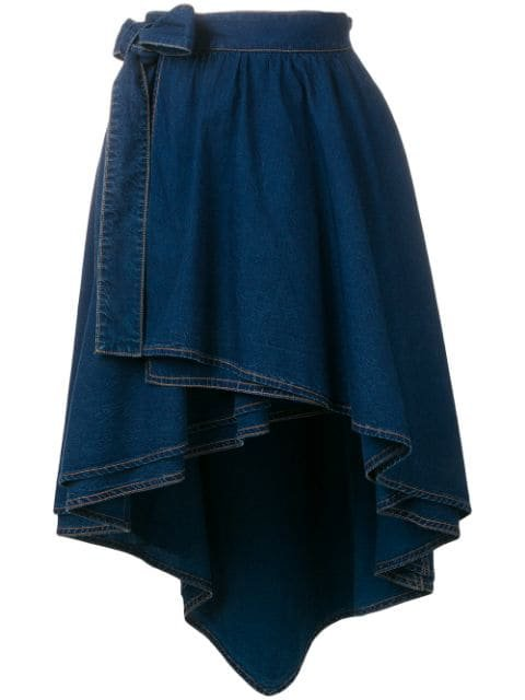 Sonia Rykiel high-low Hem Skirt - Farfetch
