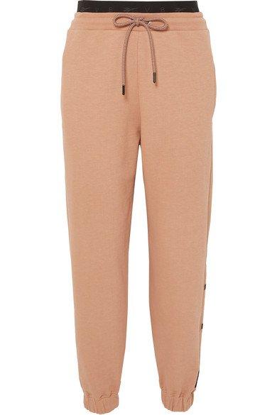 Reebok X Victoria Beckham | Pantalon de survêtement en jersey de coton à broderies | NET-A-PORTER.COM