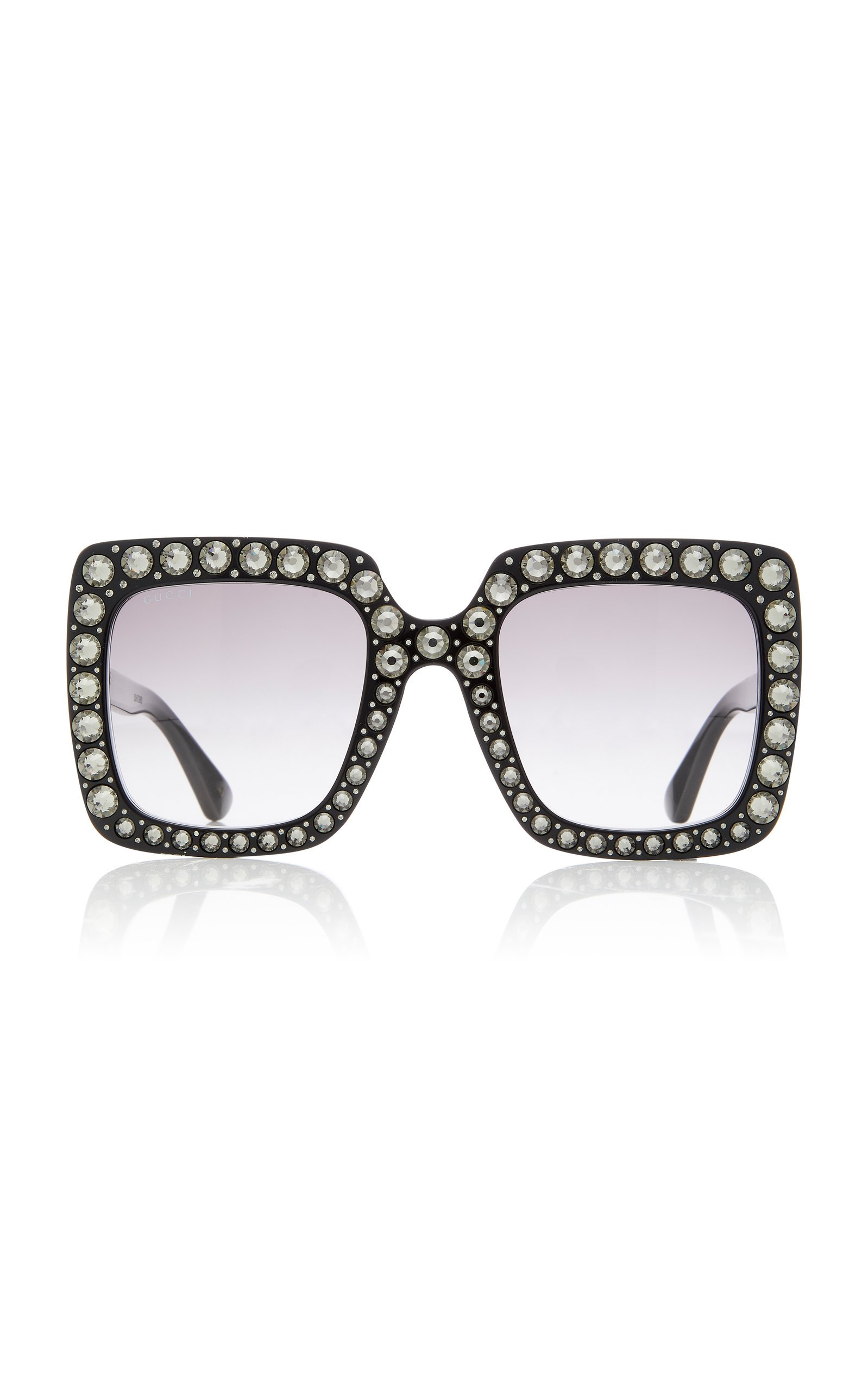 Gucci Sunglasses Crystal-Embellished Square-Frame Sunglasses