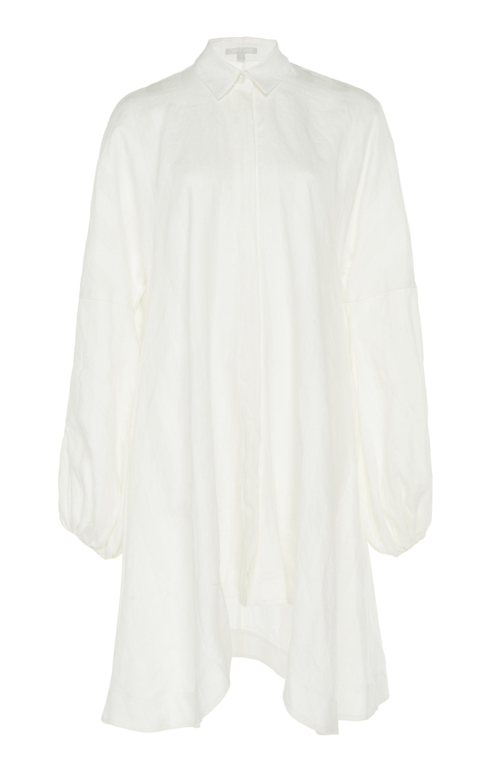 White Story Amalfi Self-Stripe Linen Beach Dress