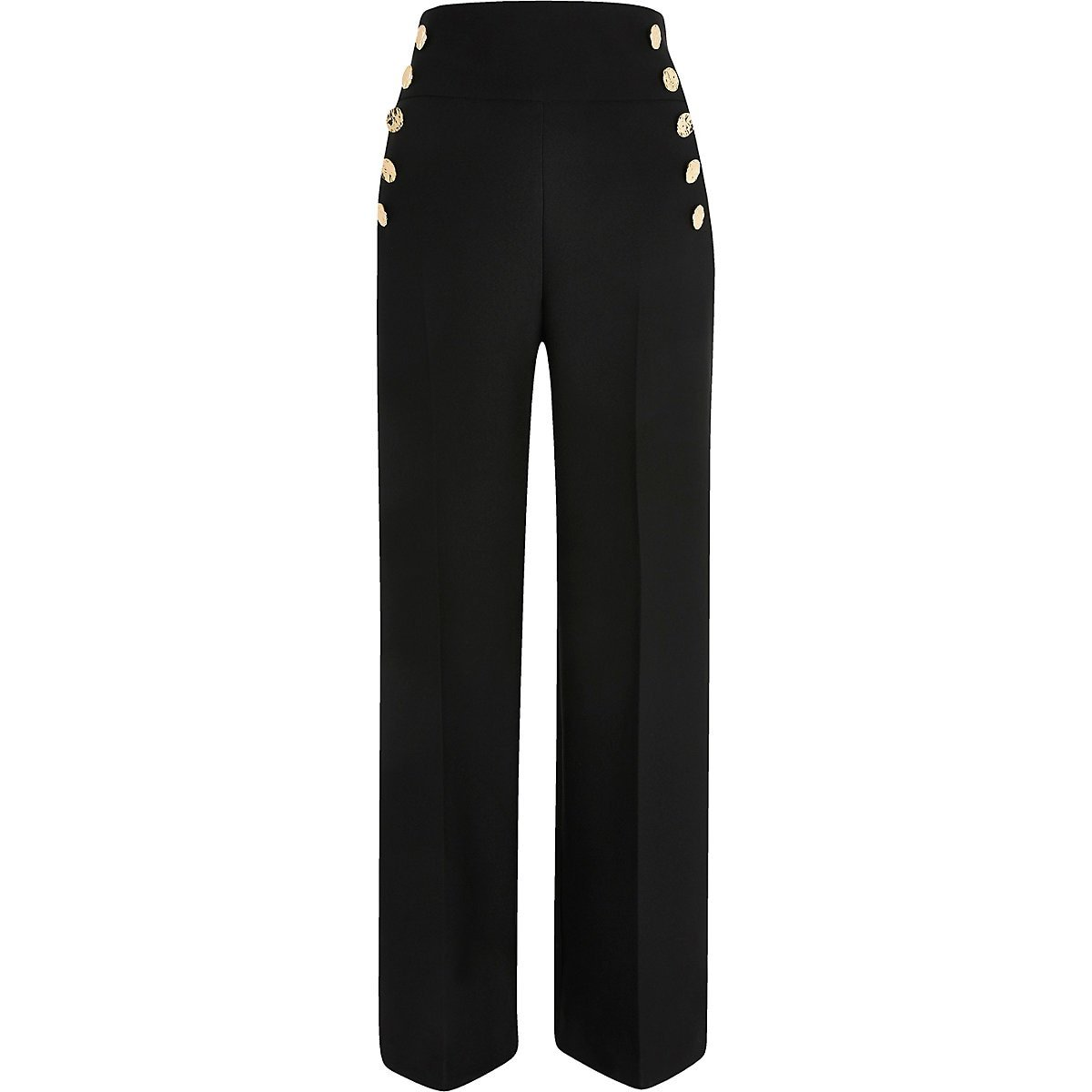 Black button wide leg pants - Wide Leg Pants - Pants - women