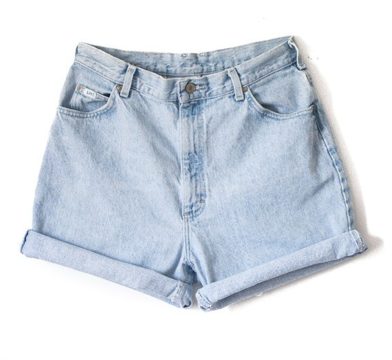 High Waisted Jean Shorts Cutoff Cuffed ALL SIZES All BRANDS