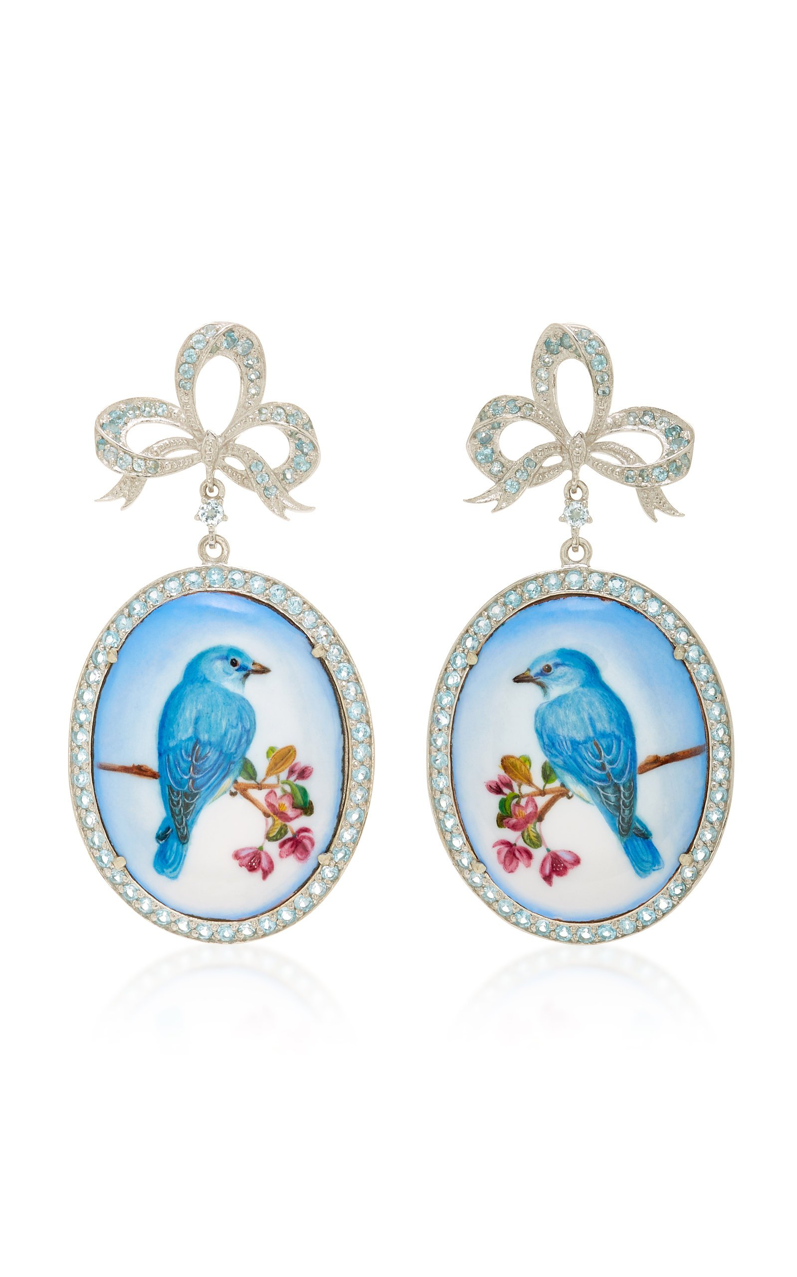 Axenoff Jewellery Wonderbird Silver Drop Earrings