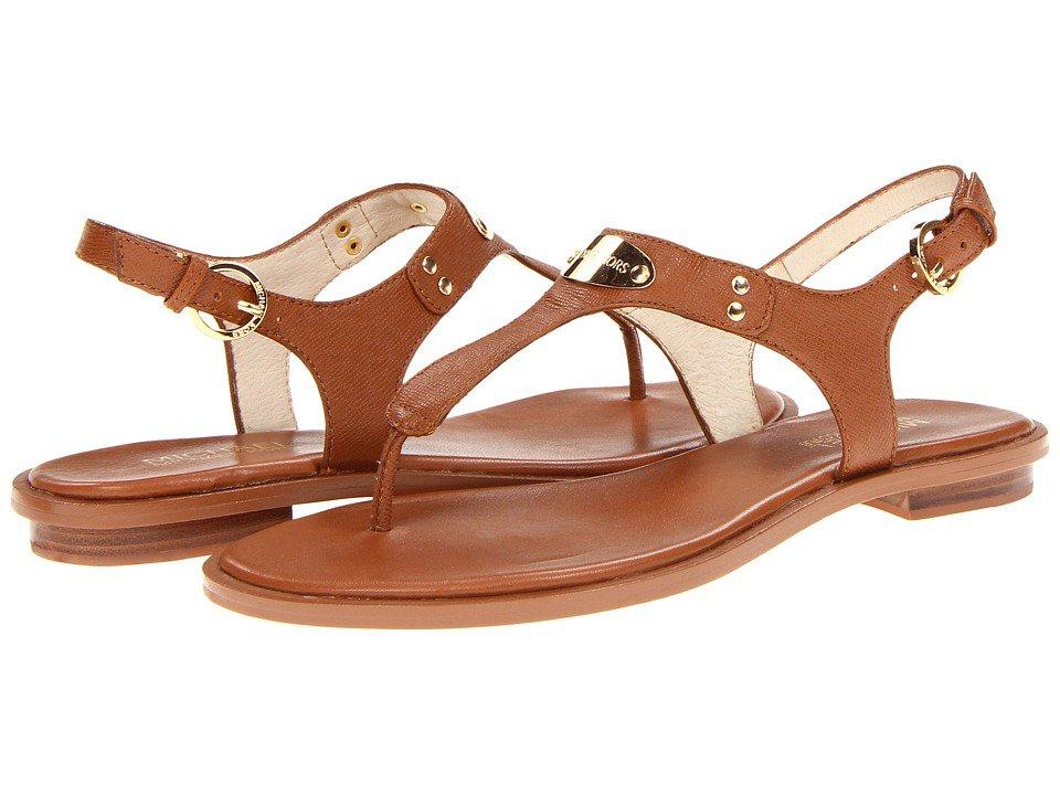 MICHAEL Michael Kors - MK Plate Thong (Luggage) Women's Sandals