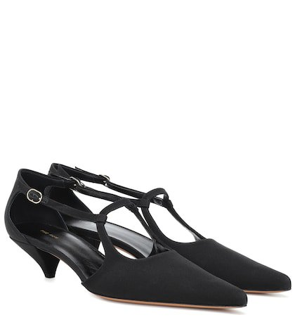 Bourgoise Salome kitten-heel pumps