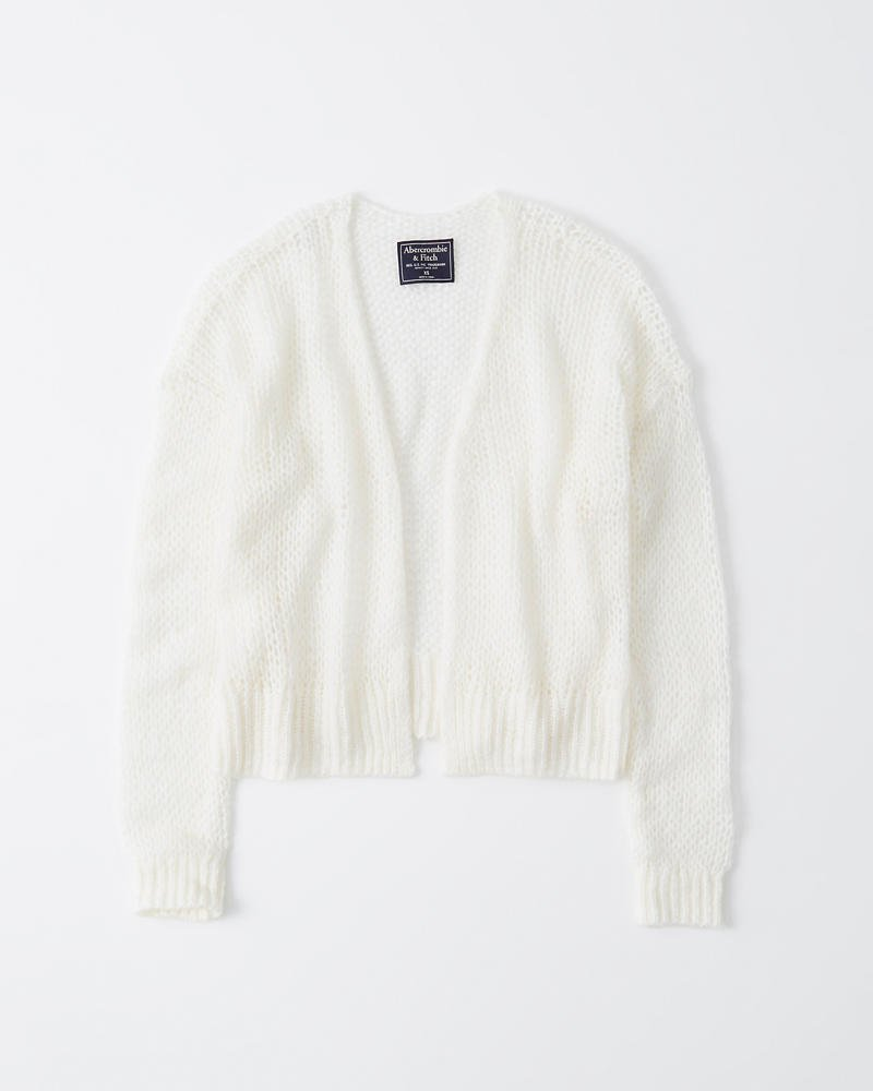 Womens Cropped Open Cardigan | Womens Clearance | Abercrombie.com