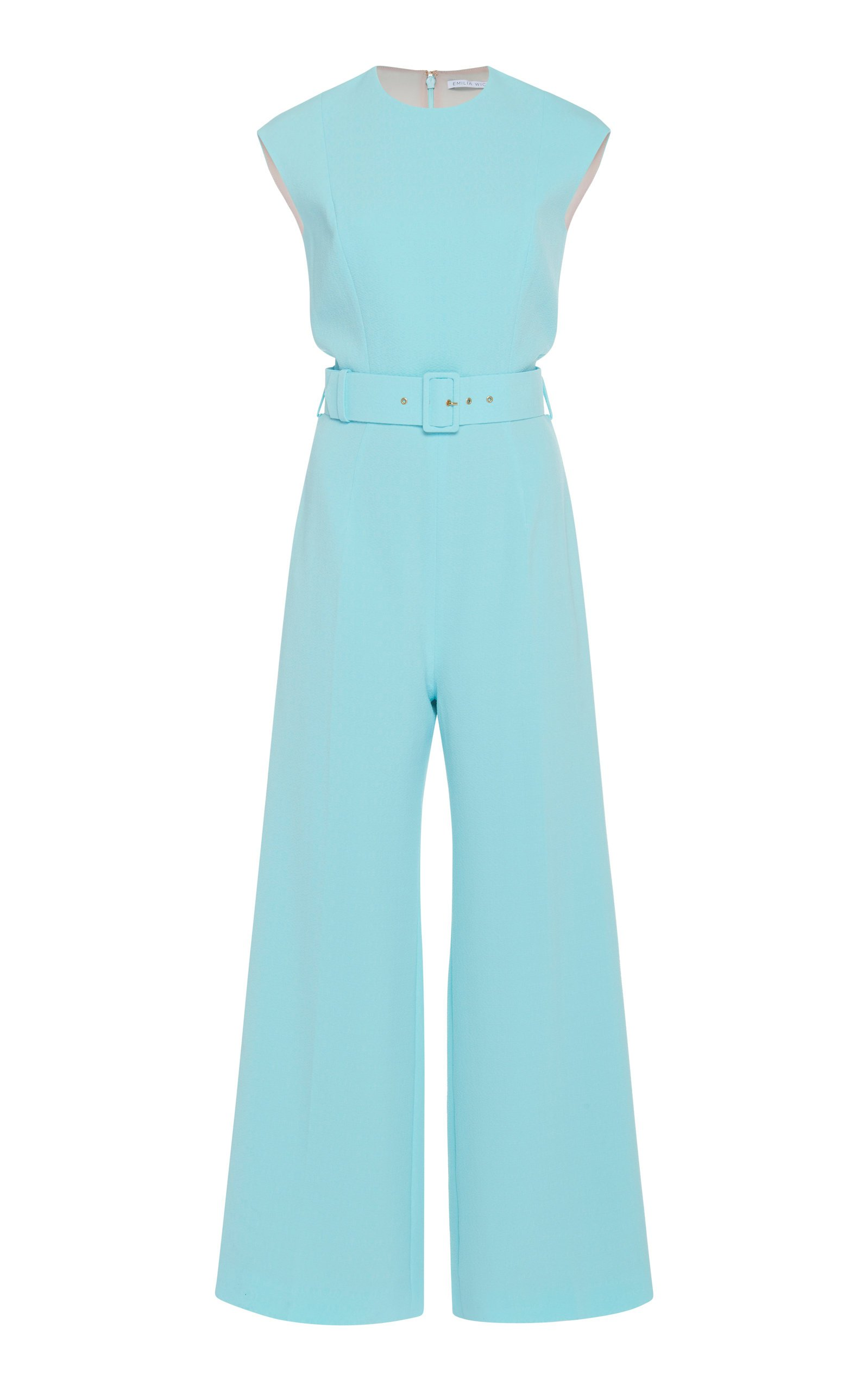 Barbara Belted Crepe Jumpsuit by Emilia Wickstead | Moda Operandi