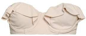 Pearl Ruffled Bandeau Bikini Top