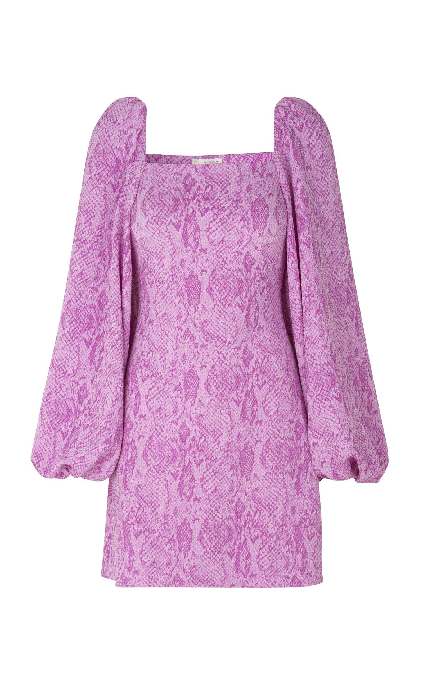 Stine Goya Clem Square Neck Cap Sleeve Mini Dress