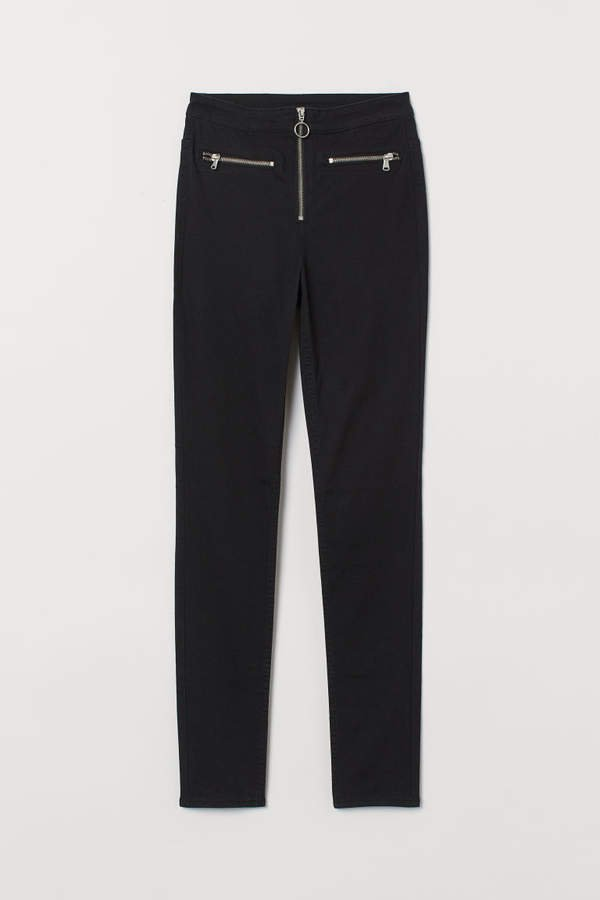 High-waisted Pants - Black