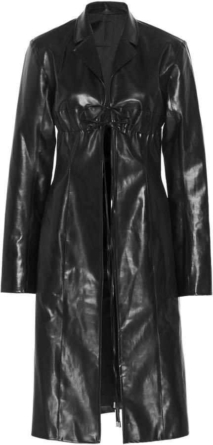 Supriya Lele Vinyl Trench Coat Size: XS