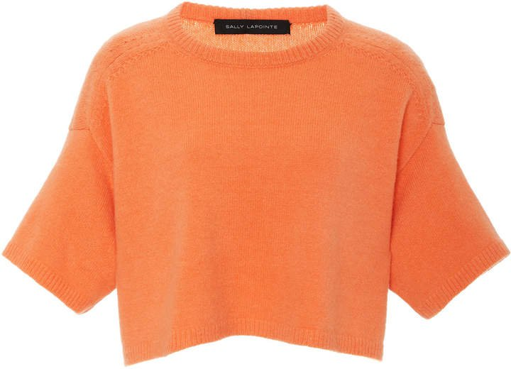 Airy Cashmere Silk Cropped Boxy Tee Size: XS/S