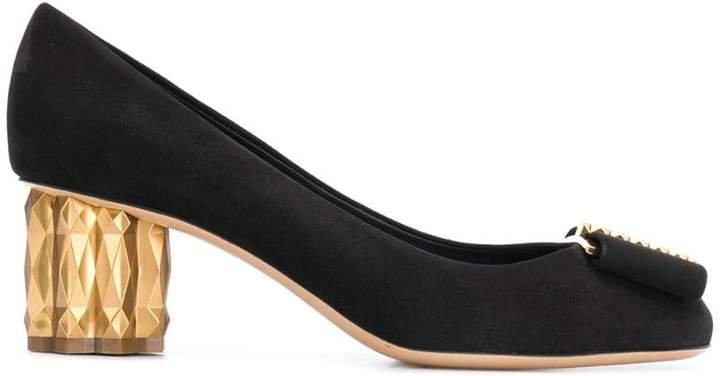 metallic heel pumps