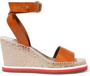 Faux Leather Espadrille Wedge Sandals