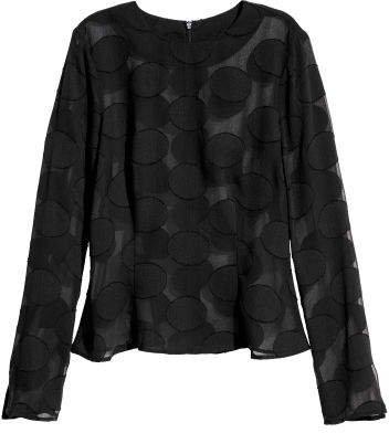 Long-sleeved Top - Black